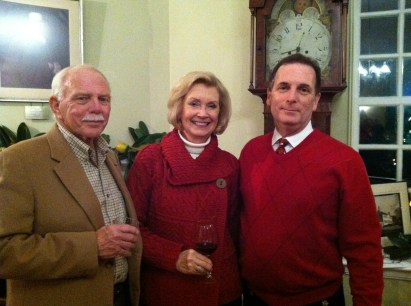 Left to right: Mac Palmer, Suzanne Palmer, SRPT President Jay Lilly