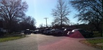 Lots of cars in the parking lot!