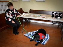 Sadie and Gail enjoying a break during the Holiday Trail on Saturday.