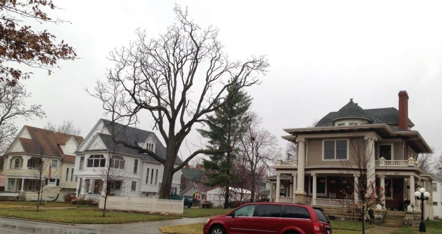 A trio of Squires-designed homes. From left to right, 613, 617, and 627 Exchange Street, Emporia.