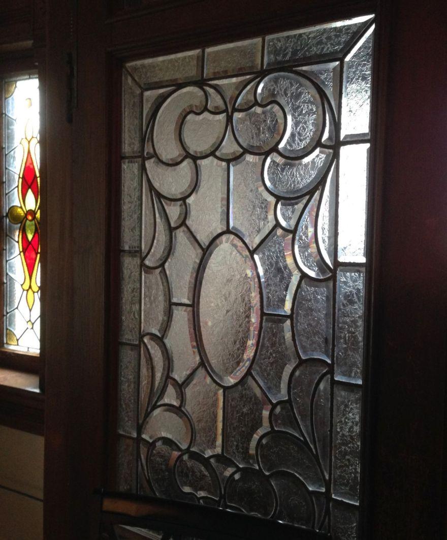The glass (wow) in the vestibule doors.
