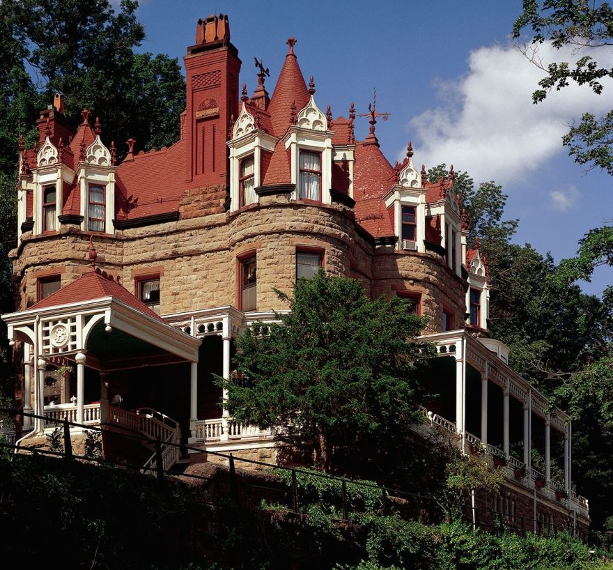 The 1886 Burrell Overlook Mansion in Little Falls, NY. Please note the expansive wrap-around porch. Deliciously original, mostly. Image courtesy of Andy Olenick.