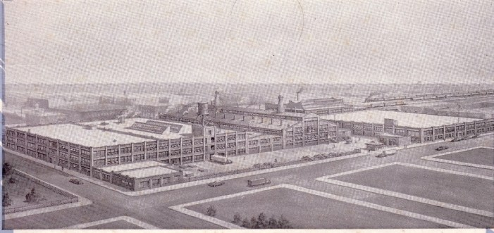 The Gill Glass factory.