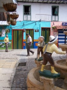 life imitates art Guatape Colombia