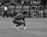 Mexico's goal keeper, López, crouching after being injured (MEX-DPR)