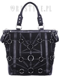 "Black, harness handbag, occult, black fashion ""O-RING TOTE ..."