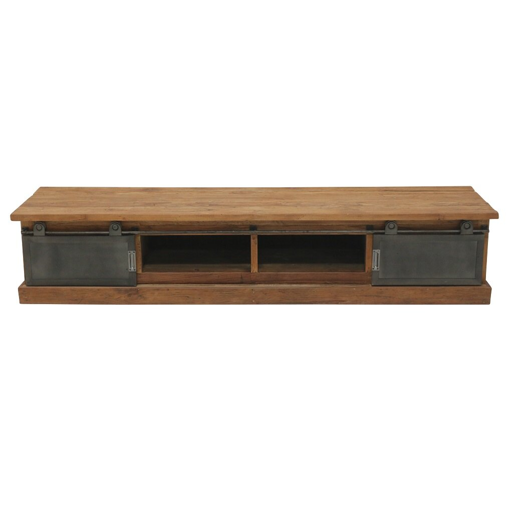 Tv Board Industrial Tv Board 180 Cm Roda Teakholz Industrial Dingklik | Restyle24, 1.249,00 €
