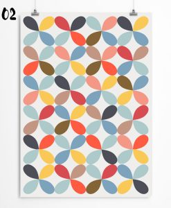 Petal pattern print. Nursery wall decor with petal wallpaper. Check out on restylegraphic.com