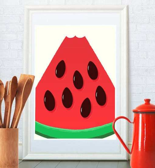 Watermelon poster framed