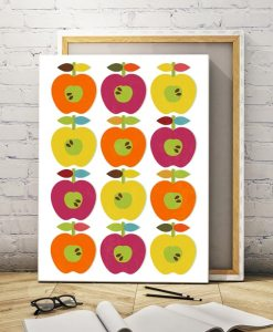 Apple ornament canvas