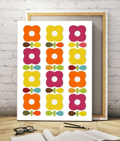 Blossom canvas print vertical