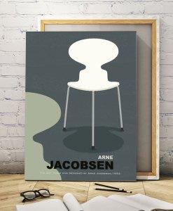 Ant chair canvas print