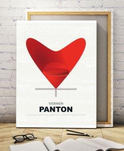 Chair panton canvas print