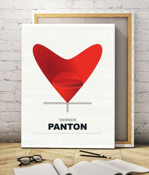 Chair panton canvas print