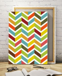 Chevron canvas print vertical