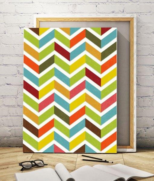 Chevron canvas print vertical