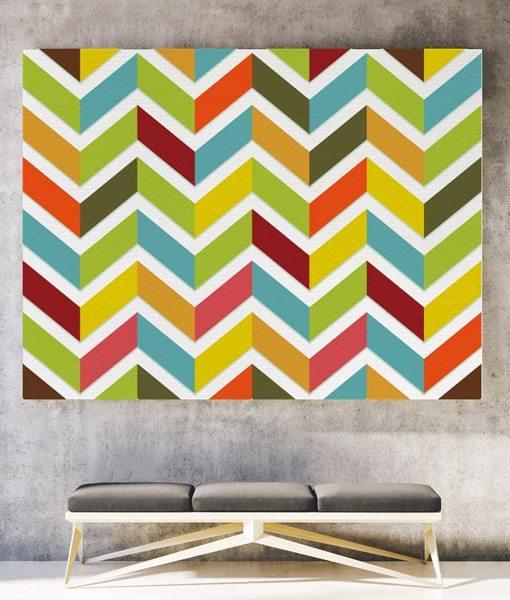 Chevron canvas print horizontal