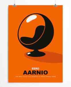 Orange Ball Chair poster