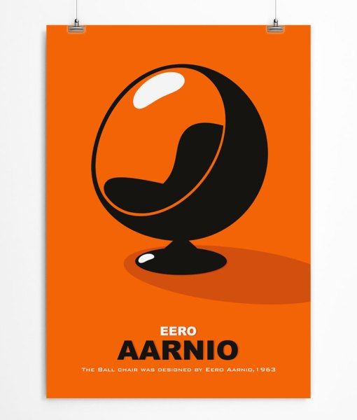 Orange Ball Chair poster