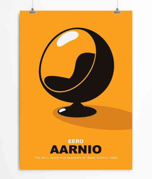 Yellow Ball Chair poster