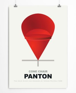 Cone chair by Panton poster