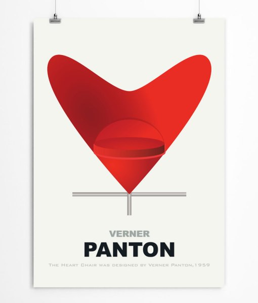 Panton chair poster