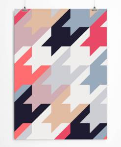 Houndstooth art print