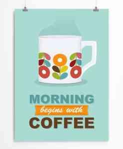 Scandi mug mint poster