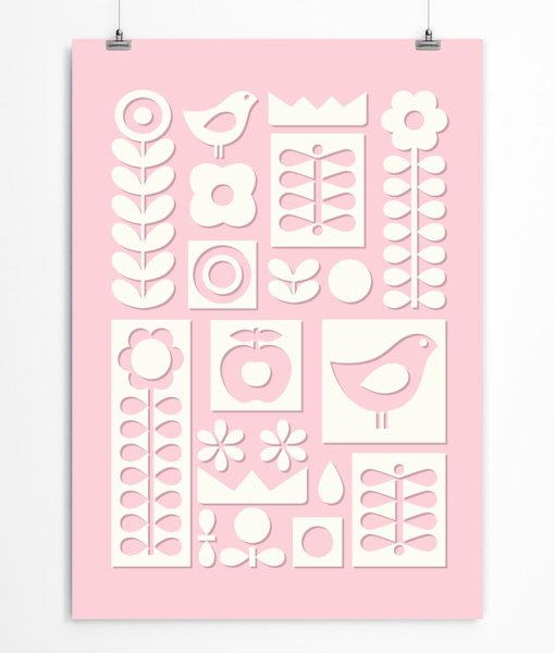 Scandinavian ornament pink