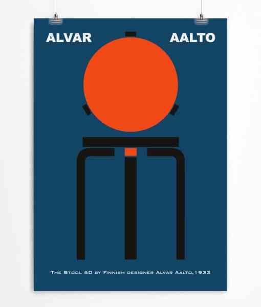 Stool 60 by Aalto Blue