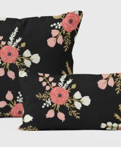 Rose Pillows Black