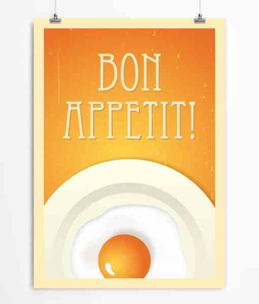 Egg Art Print Orange Printable