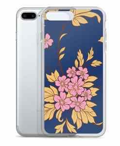 flower seamless dark blue phone 7 plus