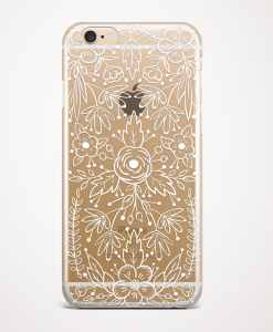 lace white phone case gold