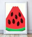 watermelon frame white mini