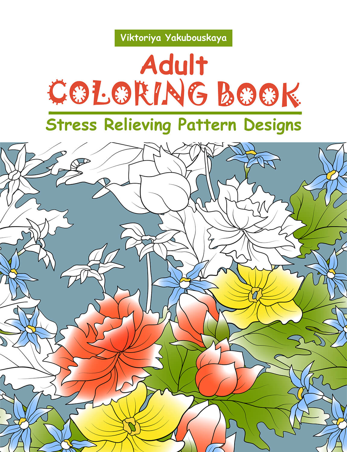 Adult Coloring Book: Stress Relieving Pattern Designs | ReStyleGraphic
