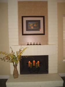 After fireplace is a true focal point
