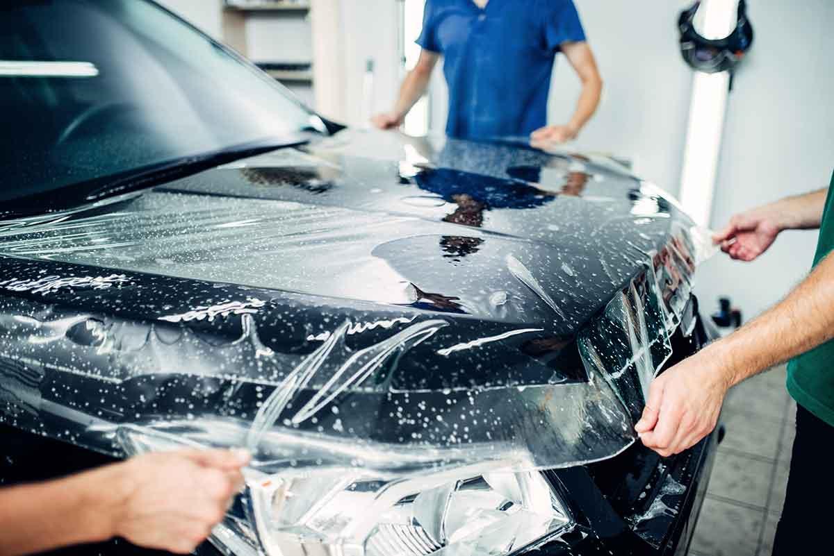 auton suojateippaus PPF kalvolla
