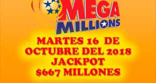 Resultados Mega Millions 16 de Octubre 2018