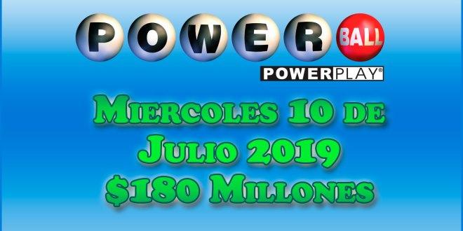 Resultados Powerball 10 de Julio del 2019