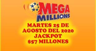Resultados Mega Millions 25 Agosto 2020