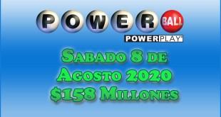 Resultados Powerball 8 de Agosto 2020