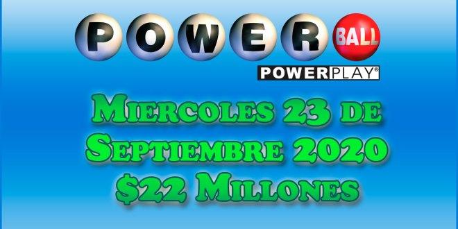 Resultados Powerball 23 de Septiembre del 2020 $22 Millones de dolares