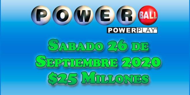 Resultados Powerball 26 de Septiembre del 2020 $25 Millones de dolares
