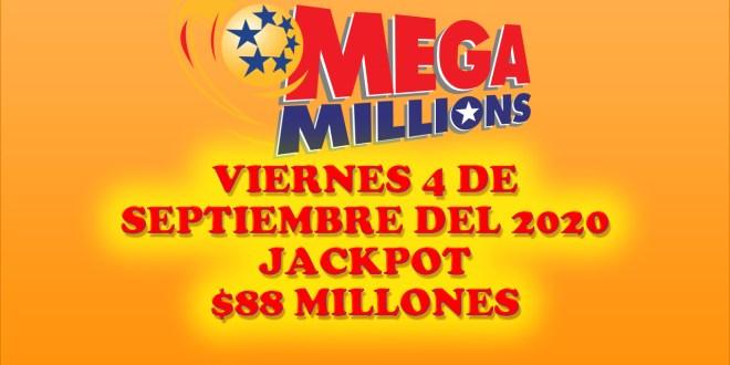 Resultados Mega Millions 4 de Septiembre del 2020 $88 Millones de dolares
