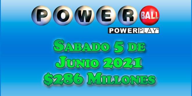 Resultados Powerball 5 de Junio del 2021 $286 Millones de dolares