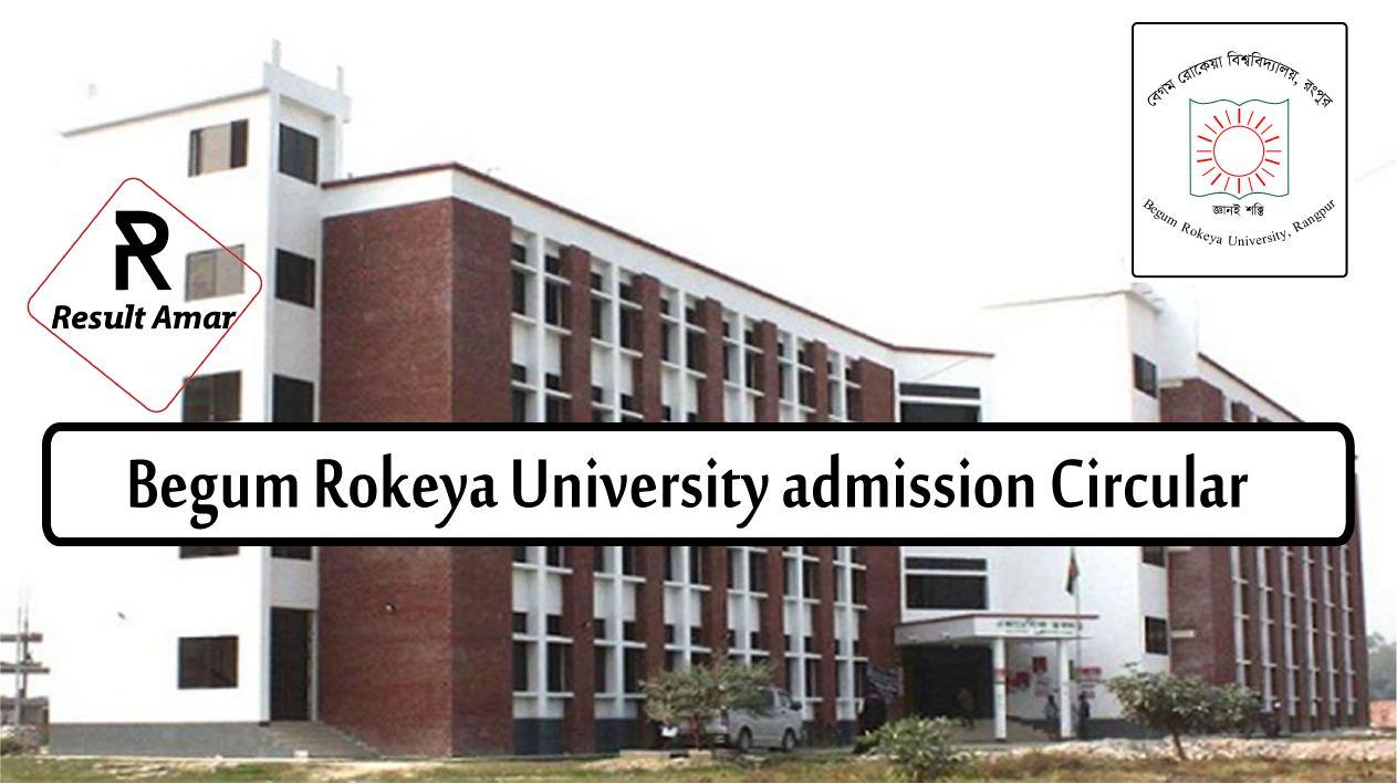 Begum Rokeya University Admission Circular