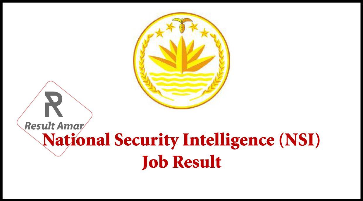 NSI Job Result 2019