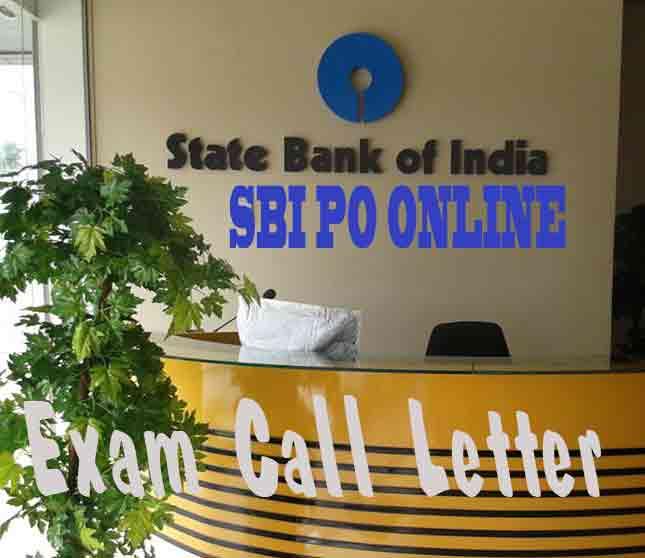 SBI PO Online Exam Call Letter 2016