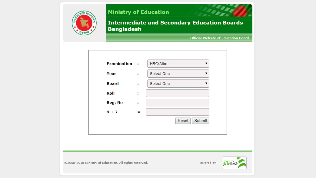 hsc result 2018 Education Board Bangladesh